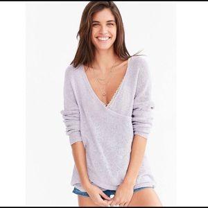 Sale! 3/$45 UO Kimchi Blue Lilac Surplice Sweater